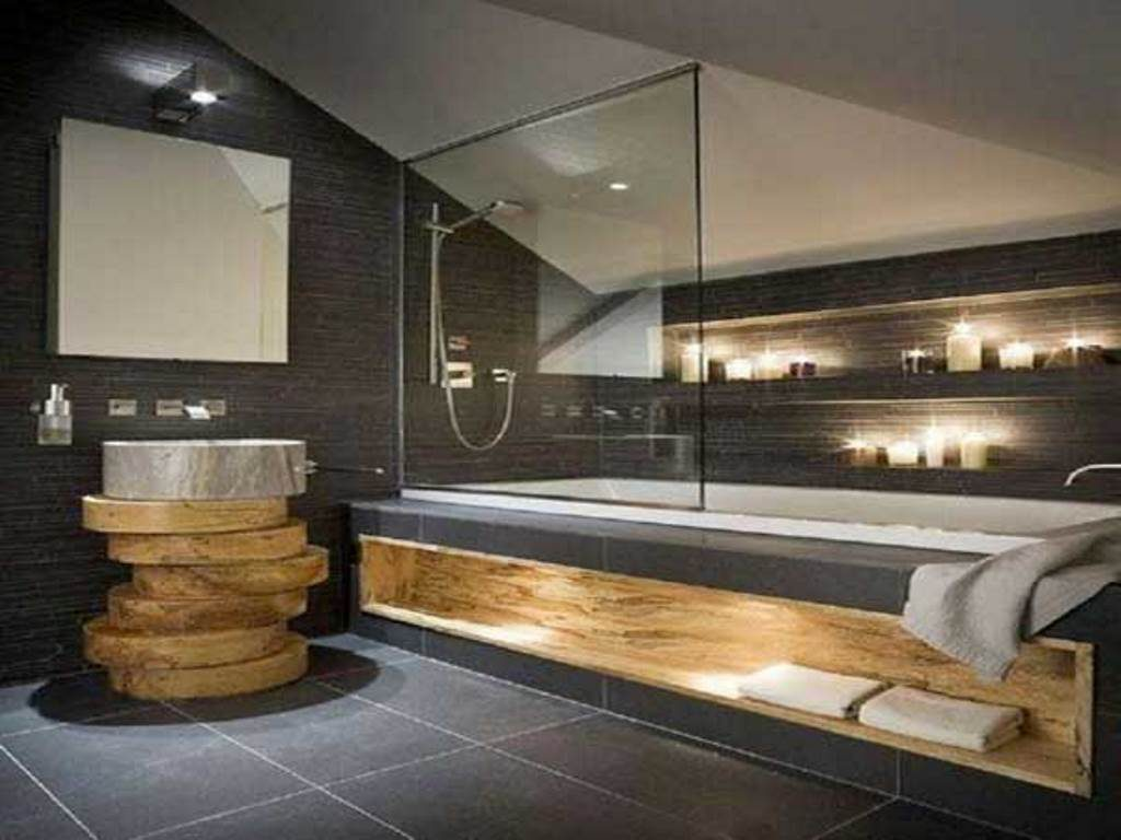 best salle de bain beton cire et bois pictures amazing. Black Bedroom Furniture Sets. Home Design Ideas